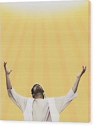 Jesus Cries Out To Heaven Wood Print by Kelly Redinger