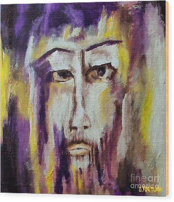 Wood Print featuring the mixed media Jesus by Dragica  Micki Fortuna