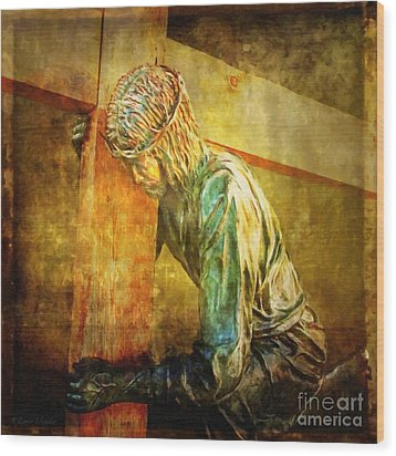 Jesus Falls Via Dolorosa 3 Wood Print