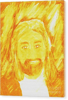 Jesus Is The Christ The Holy Messiah 1 Wood Print by Richard W Linford