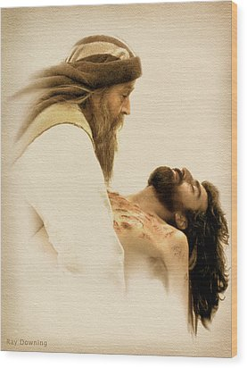 Jesus Laid To Rest Wood Print by Ray Downing