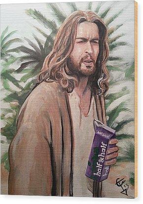 Jesus Lebowski Wood Print by Tom Carlton