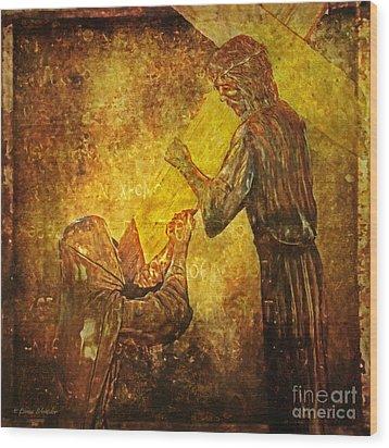 Jesus Meets His Mother Via Dolorosa 4  Wood Print