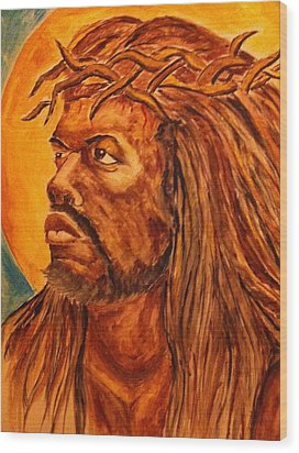 Jesus Of Color Wood Print by Clyde Taylor