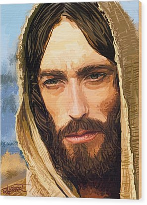Jesus Of Nazareth Portrait Wood Print by Dave Luebbert