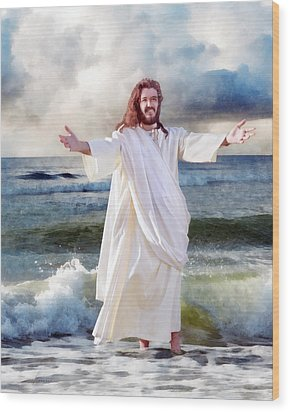 Jesus On The Sea Wood Print by Francesa Miller