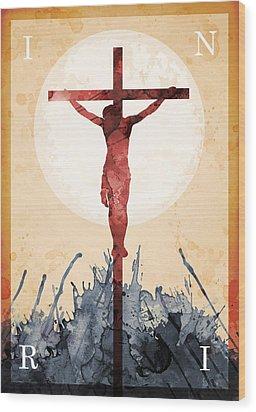 Jesus Our Savior Wood Print