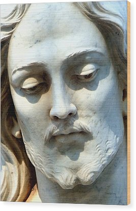 Jesus Statue Wood Print by David G Paul