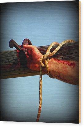 Jesus Thank You Wood Print by Sheri McLeroy