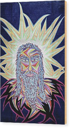 Jesus Year 2000 Wood Print by Robert SORENSEN