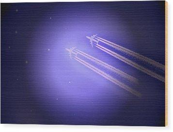 Jet Race Wood Print by Kelly Reber