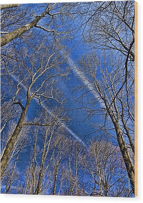 Wood Print featuring the photograph Jet Trails by Robert Culver