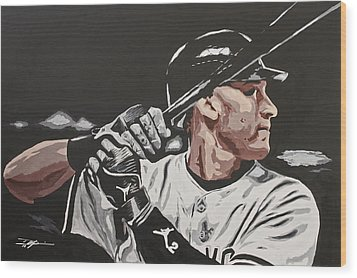 Jeter  Wood Print by Don Medina
