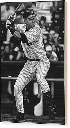 Jeter Wood Print by Jerry Winick