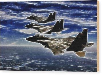 Jets Wood Print by Maciek Froncisz