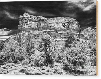 Jewel In The Desert Wood Print by John Rizzuto
