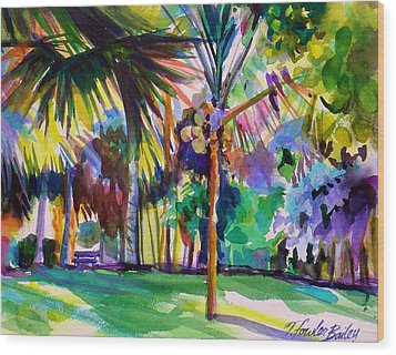 Jewel Tones From Hawaii Wood Print by Therese Fowler-Bailey
