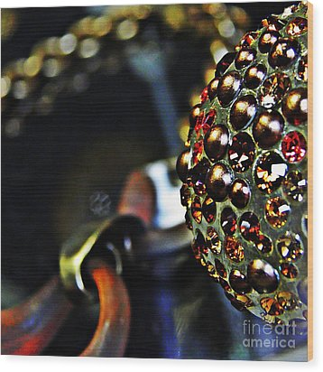 Jeweled Wood Print by Sarah Loft