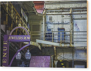 Jewelers Row Wood Print