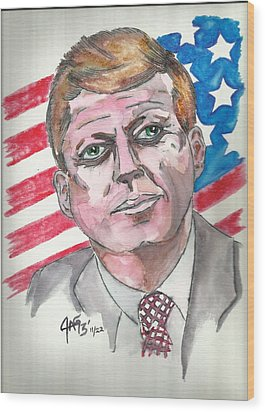 JFK Wood Print by The GYPSY And DEBBIE