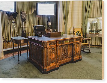 Jfk's Oval Office Wood Print