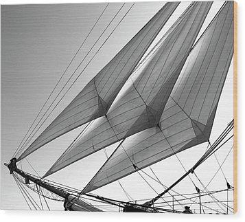 Jib Sails Wood Print