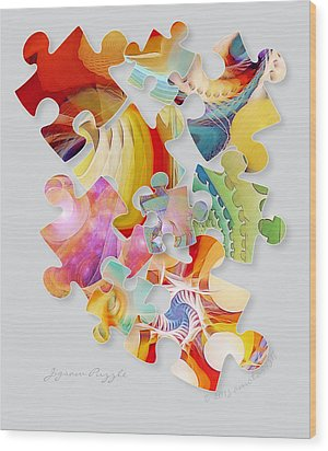 Jigsaw Puzzle Wood Print by Gayle Odsather