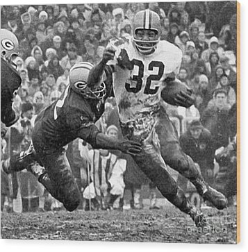 Jim Brown #32 Wood Print