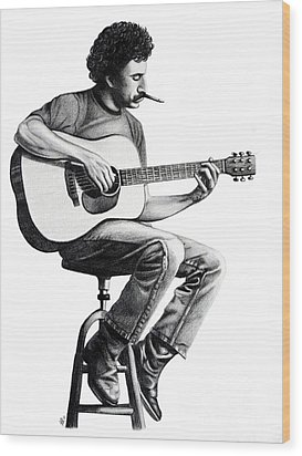 Jim Croce Wood Print by Danielle R T Haney