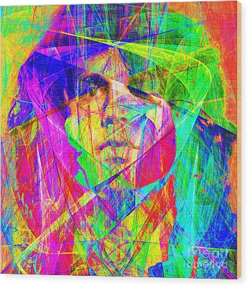 Jim Morrison 20130613 Square Wood Print by Wingsdomain Art and Photography
