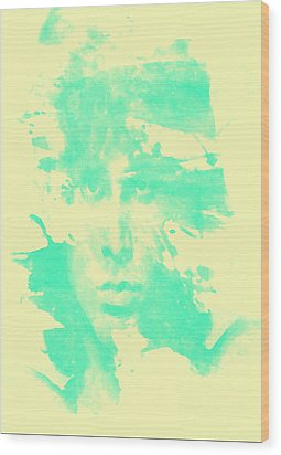 Wood Print featuring the digital art Jim Morrison  by Brian Reaves