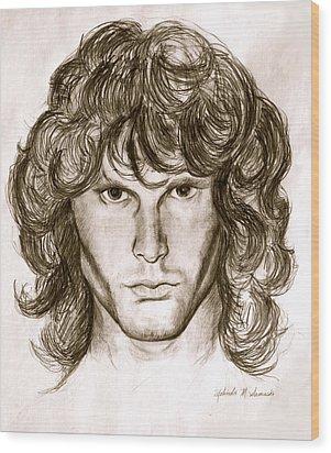 Jim Morrison Wood Print by Melinda Saminski