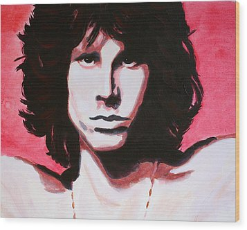 Jim Morrison Of The Doors Wood Print by Bob Baker