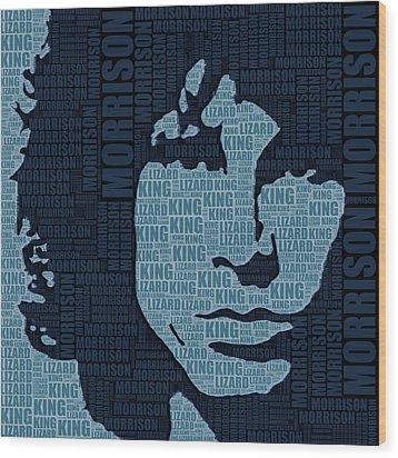 Jim Morrison The Doors Wood Print by Tony Rubino