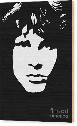 Jim Morrison  Wood Print by Yael Rosen