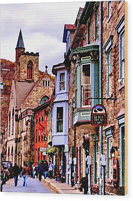 Wood Print featuring the photograph Jim Thorpe Pa Stone Row by Jacqueline M Lewis
