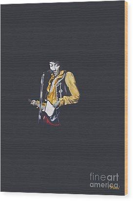 Jimi At Monterey 1 Wood Print