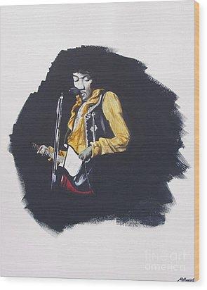 Jimi At Monterey 2 Wood Print