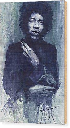 Jimi Hendrix 01 Wood Print