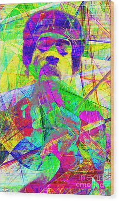 Jimi Hendrix 20130613 Wood Print by Wingsdomain Art and Photography