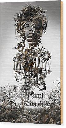 Jimi Hendrix Wood Print by Andy Walsh
