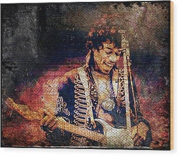 Jimi Hendrix - Guitar Wood Print