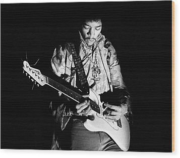 Jimi Hendrix Live 1967 Wood Print by Chris Walter