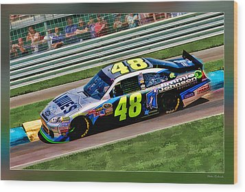 Jimmie Johnson Wood Print