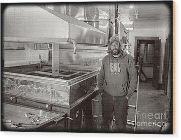 Jimmy At Mt Cube Sugar Farm Wood Print by Edward Fielding