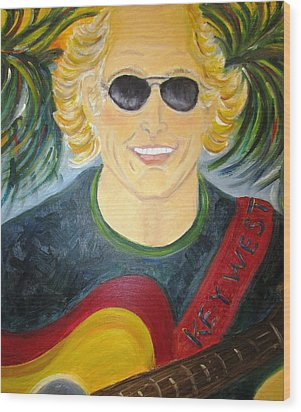 Jimmy Buffet Wood Print