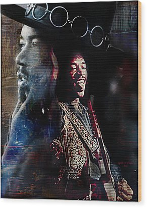Jimmy Hendrix Wood Print