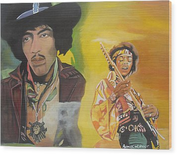 Jimmy Hendrix Wood Print by Patrick Hunt