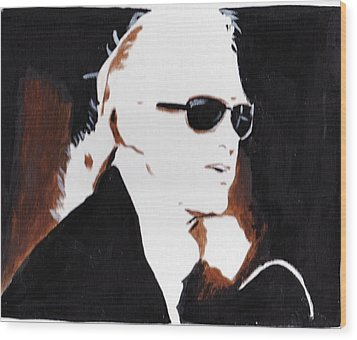 Jimmy Page 2 Wood Print by Audrey Pollitt