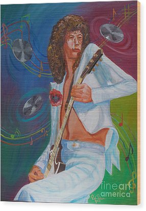 Jimmy Page 2 Wood Print by To-Tam Gerwe